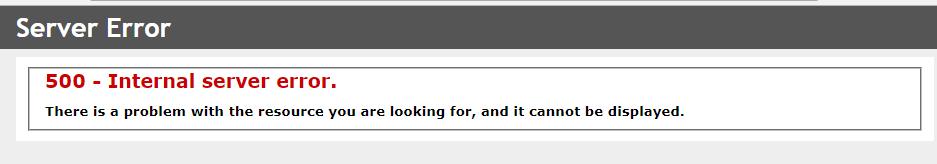IIS 10 500 internal server error